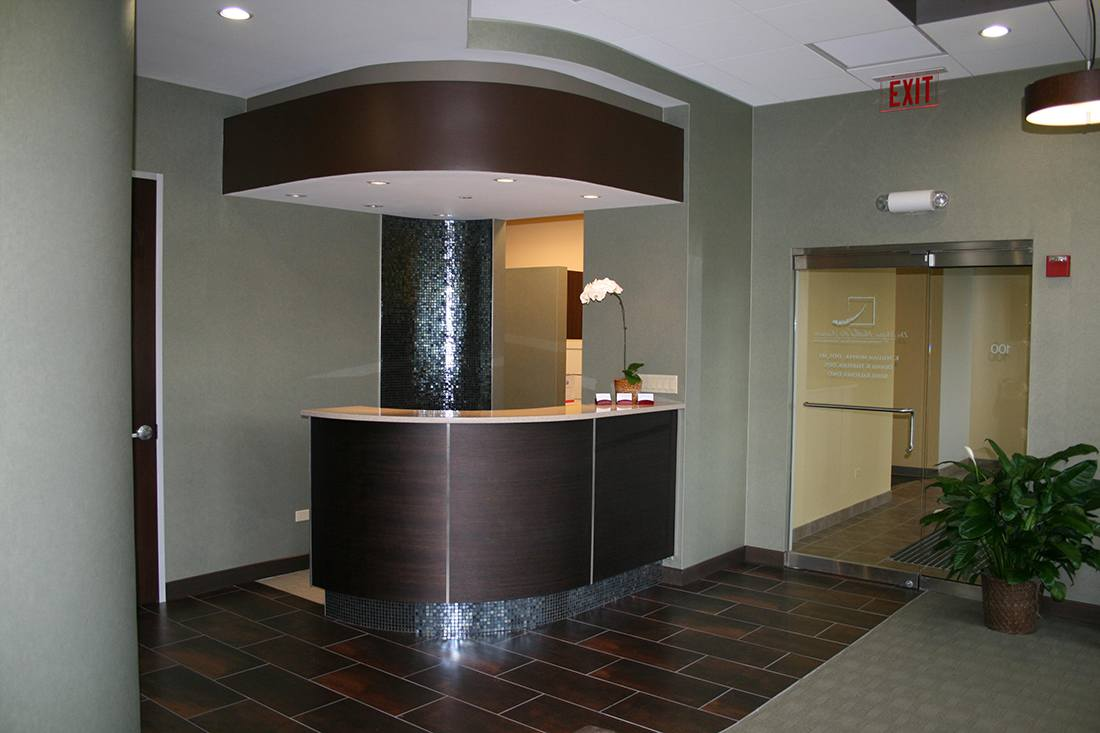 dental office, reception desk